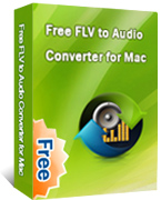 Free FLV to Audio Converter for Mac box