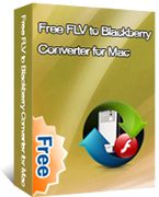 FLV to BlackBerry Converter for Mac box
