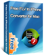 Free FLV to iPhone Converter for Mac box