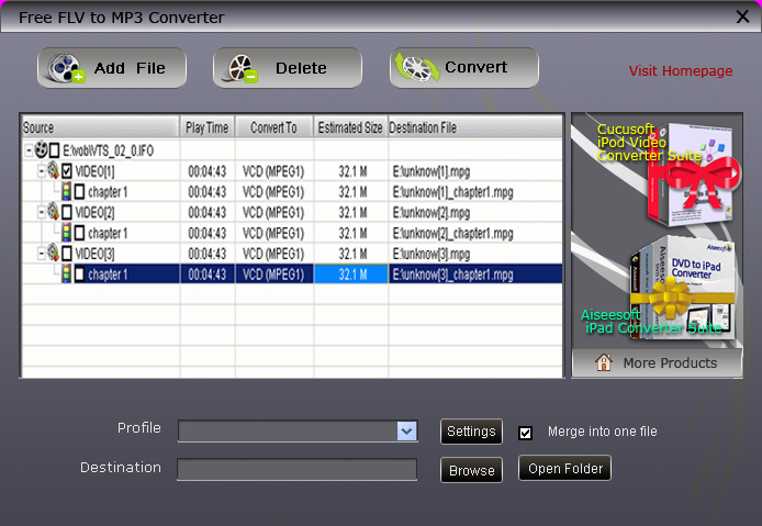 convert flv to mp3 clubic