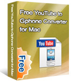 Free YouTube to GPhone Converter for Mac box