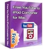 Free YouTube to iPod Converter for Mac box
