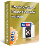 Free YouTube to iTouch Converter for Mac box