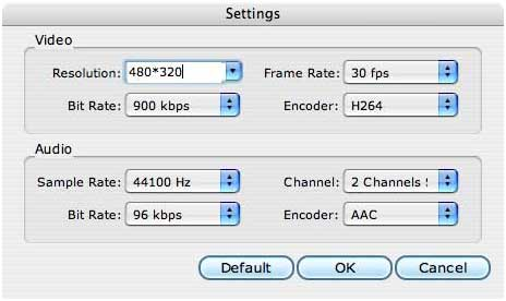 How to convert videos (ingcluding DRM protected) on Mac and transfer iPod to Mac Setting