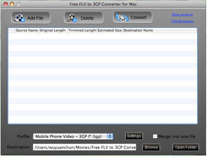 powerful&versatile Mac FLV to 3GP converter