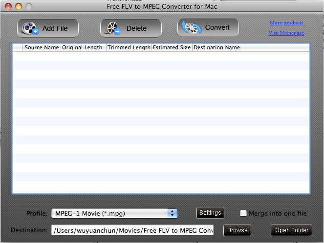 best free Mac FLV to MPEG Converter