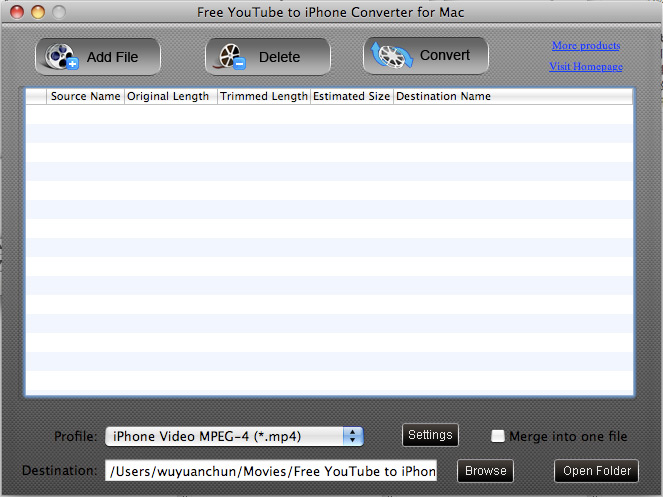 Free YouTube to iPhone Converter for Mac