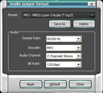 remove drm audio output format